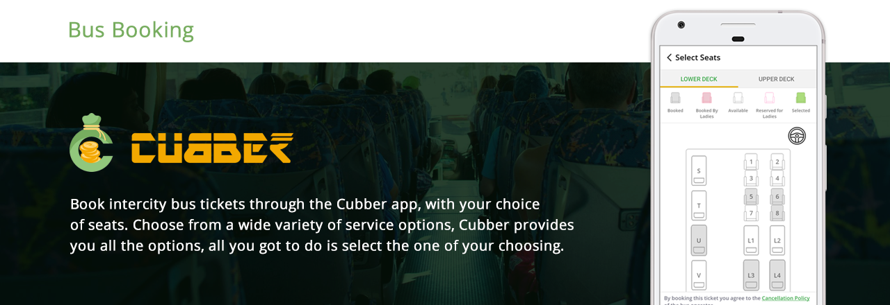 Cubber Bus Booking